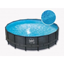 Karkasinis baseinas SWING POOL ELITE WICKER dark 427x107