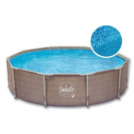 Karkasinis baseinas SWING POOL WICKER 305x76