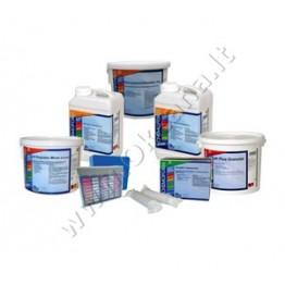 Baseinų priežiūros MEDIUM chemijos komplektas be chloro