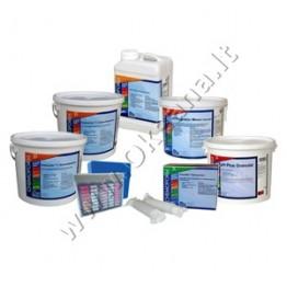Baseinų priežiūros MEDIUM chemijos komplektas su chloru