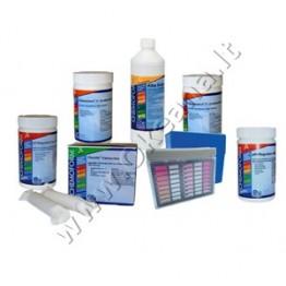 Baseinų priežiūros MINI chemijos komplektas su chloru