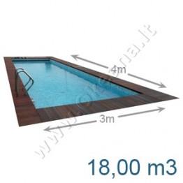 Lauko-vidaus betoninis baseinas 4,0 x 3,0 m | Betoniniai baseinai