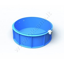 Plastikinis vidaus - lauko baseinas 13,46 m3