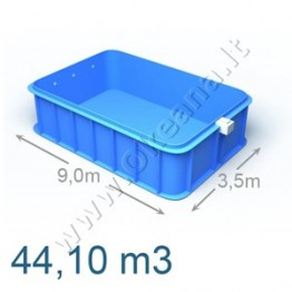 Plastikinis vidaus - lauko baseinas 9,0 x 3,5 m | Plastikiniai baseinai